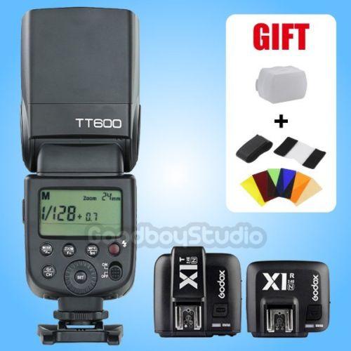 Godox TT600 2.4 г Беспроводной вспышки Speedlite x1t n триггер x1r n приемник для Nikon
