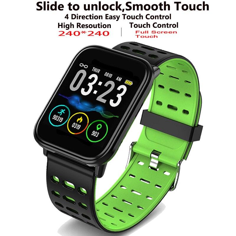 LIGE Novo Relógio Inteligente Tela Sensível Ao Toque Completa de Monitoramento da Freqüência Cardíaca Pulseira dos homens À Prova D' Água Esportes de Fitness Pedômetro Inteligente Pulseira