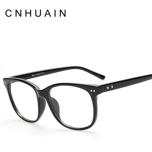 CNHUAIN Kelas Kacamata Pria Merek Kacamata Bingkai Asetat Optik Bingkai  Bingkai Perempuan Wanita Polos Cermin Dekoratif 5451451f1f