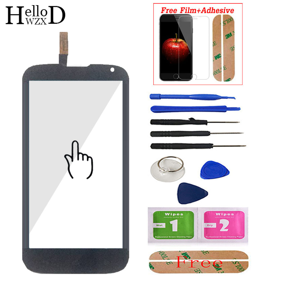 Touch Screen Front Glass Digitizer Panel For Huawei G610 C8815 G 610 Lens Sensor Touchscreen Adhesive + Screen Protector Gift