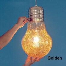Креативные подвесные светильники из железного стекла, большая винтажная лампа, бар, русский склад, 300 мм* 450 мм, большие подвесные E27 лампы