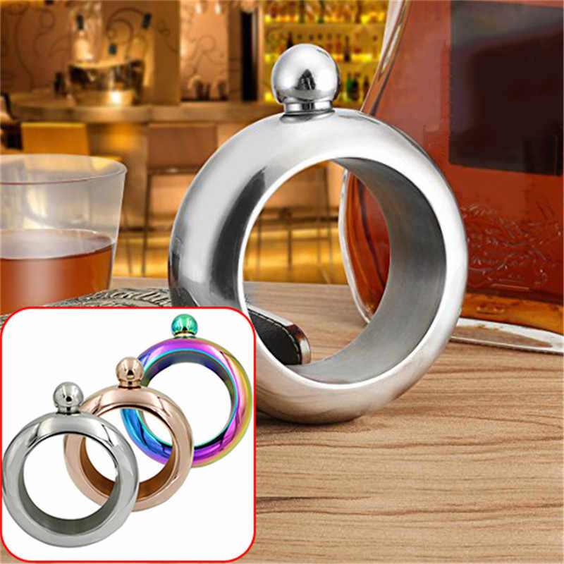 Stainless Steel Bangle flask Bracelet Hip Flask Portable Round Elegant Wine Mixed Bottle 3.5 oz Whiskey Alcohol Drinkware Flasks