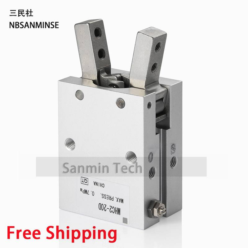 Pneumatic Parts Standard Type MHC2 SMC Type Compress Air Parts Double Acting Cylinder Angular Style Air Gripper Sanmin mhc2 10d angular style double acting air gripper standard type smc type pneumatic finger cylinder