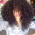 Brazilian Kinky Curly Virgin Hair 4 Bundles Deep Curly Brazilian Hair Cheap Afro Kinky Human Hair Extensions Wet And Wavy