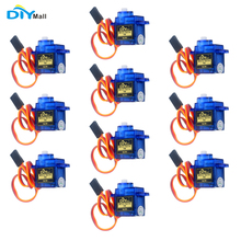 10pcs/lot 9g SG90 Mini Servo 180 Degree with Accessories 3Pin Cable For 450 RC Helicopter Airplane Car Boat DIYmall цена