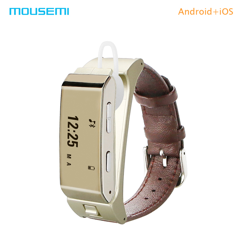 MOUSEMI K2 Smart Bracelet Finess Activity Tracker Smartband With Bluetooth Earph