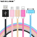 VOXLINK Micro 8pin 30pin Type C USB Cable Charging Data Sync Cords For iPhone 4s 5s 6s Samsung S7 Huawei P9 LG G5