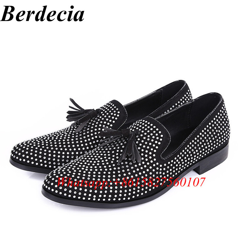Spring Autumn Rhinestones Bordered Breathable Mens Shoes Casual Comfortable Men Loafers Walking Oxford Shoes For Men Chaussure
