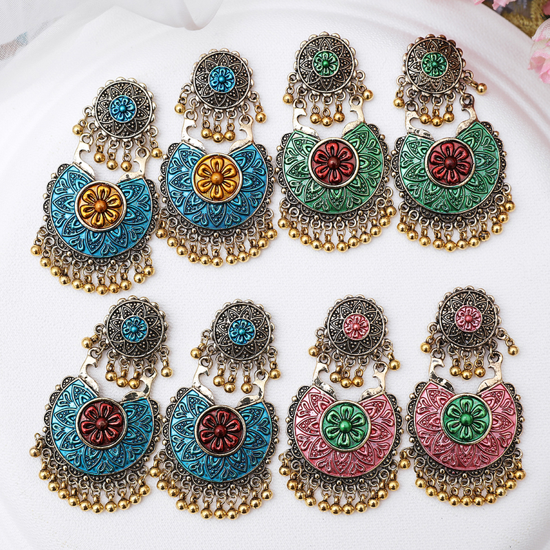 ZOSHI Thailand Indian Jewelry Vintage Gold Bells Statement Earrings For Women Bohemia Jhumka Oorbellen Egypt Gypsy Tribal Party