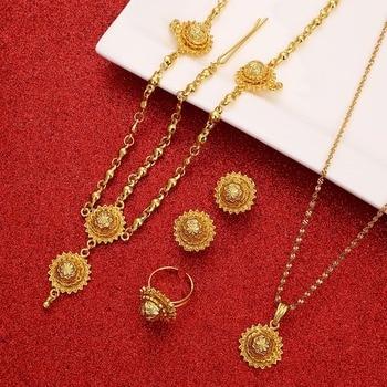 Ethiopian Jewelry Sets Hair Piece Forehead Chain Eritrea Wedding Gift Habesha