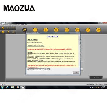 цена на Maozua Newest Release V195 for Renault Can Clip Diagnostic software V195 Car Diagnostic Tool Support Multi-languages