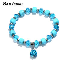 Beautiful Crystal Bracelets for Women With Shambhala Beads Adjustable Strand Bracelet Femme Braslet Female Yoga Lady Jewelry