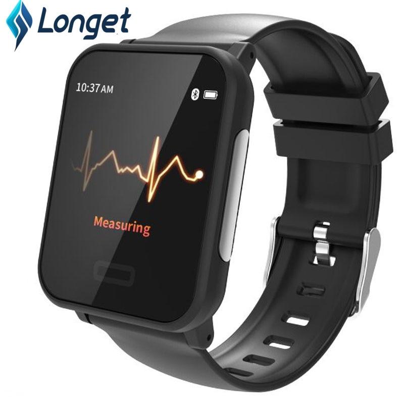 Relógio Inteligente com Monitor de Freqüência Cardíaca ECG E33 Longet IP67 Rastreador de Fitness do Bluetooth inteligente pulseira À Prova D' Água para o iphone Xiaomi