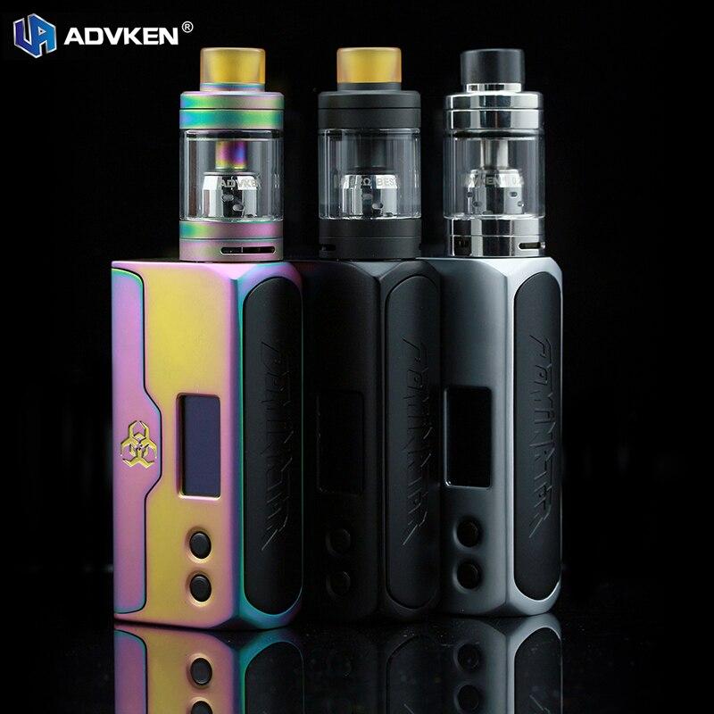 Advken Dominator 100 W Boîte Mod Starter Kit Ecigarette avec Écran OLED Dominator Atomiseur fit avec 18650/20700/21700 Batterie