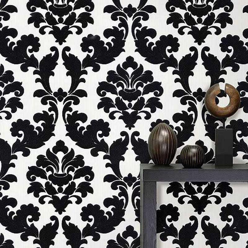 Popular Black Floral Wallpaper Buy Cheap Black Floral