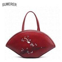 Genuine Leather handbag  2017 new luxury embossed handbag Fashion Shoulder Messenger Bag Women's handbags