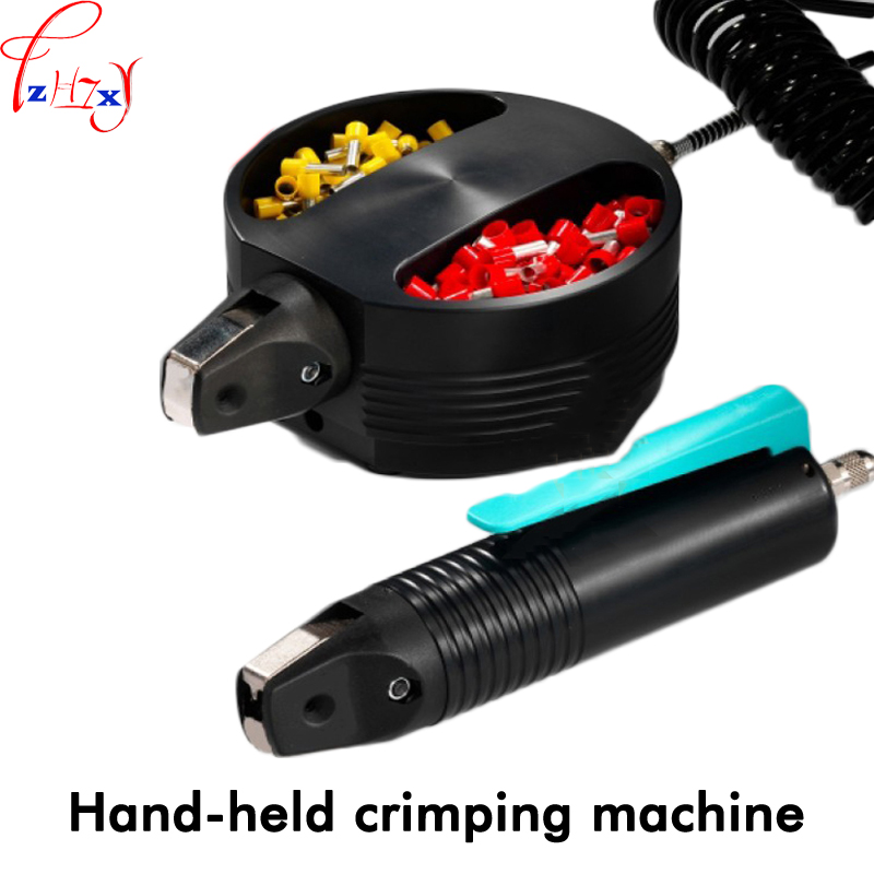New Handle type tube terminal special pressure line machine pneumatic cable pliers pneumatic hand-held press 1pc swingable pneumatic eccentric grinding machine 125mm pneumatic sander 5 inch disc type pneumatic polishing machine