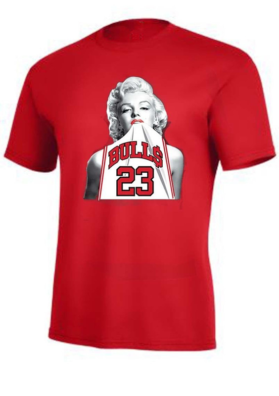 Marilyn Monroe Wearing Michael Jordan 23 Unisex T Shirt Jersey Sports Funny Cool Sex Tank Top Tee Shirts For Men Women T-shirt