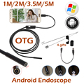 5.5mm Lente Android OTG USB Endoscópio Camera 5 M 3.5 M 2 M 1 M Inteligente Android Telefone USB Endoscópio Inspeção Serpente Tubo Camera 6LED