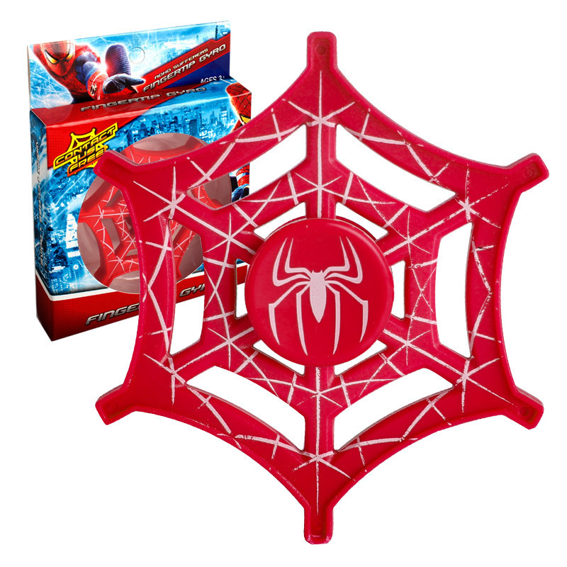 Hot Selling EDC Spider Man Hand Spinner Spiderman Web Style Fidget  Spinner ADHD Spinner Toy CE Certification