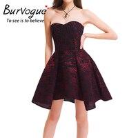 Burvogue Women's Gothic Lace Steampunk Corset Dress Waist Control Cotton Steel Boned Overbust Victorian Steampunk Corset Dress