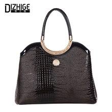 Здесь можно купить   DIZHIGE Alligator Shoulder Handbag Women Frame Fashion Bags Handbags Women Famous Brands Pu leather Designer Woman Bag 2017  Handbags
