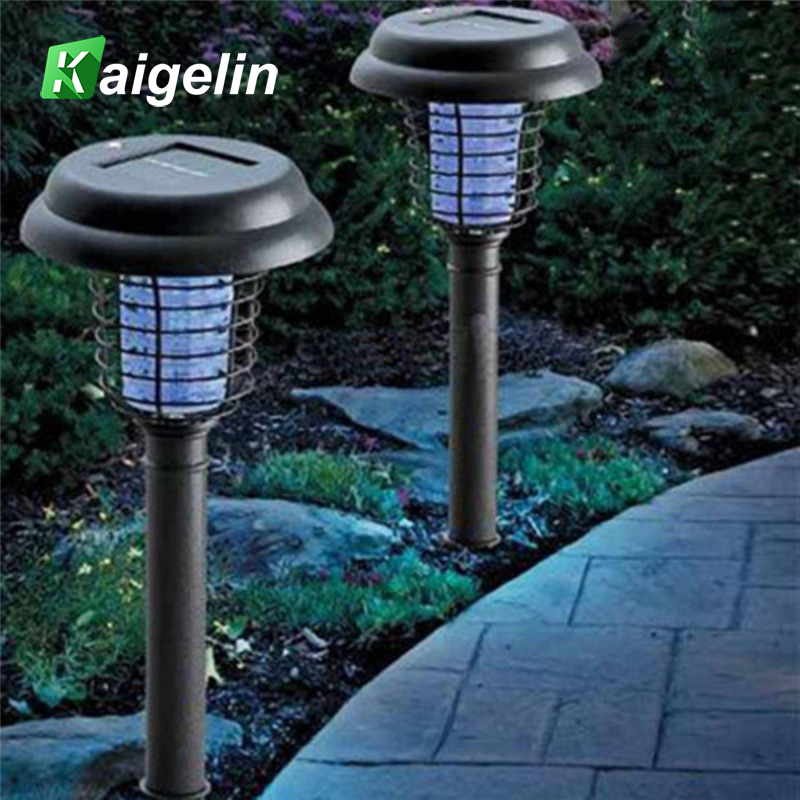 5 PCS LED Solar Powered Outdoor Yard Lawn Anti Mosquito Insect Pest Zapper Killer Trapping Lantern Lamp Spike Light Garden Deco solar anti mosquito insect killer led lamp powered waterproof ip65 uv light for outdoor yard garden lawn farm camping