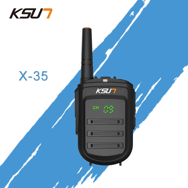 KSUN X-35TFSI Walkie Talkie 8W Handheld Baofeng Uhf 400-470MHz 128Channel LED Display Two Way Radio Portable CB