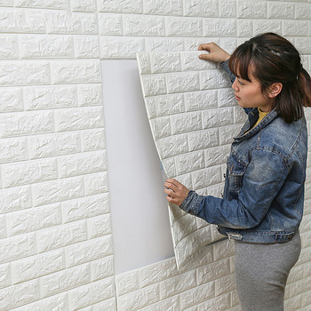 DIY Self Adhesive 3D Foam Brick Wall Stickers-Free Shipping 3D Wall Stickers For Bedroom For Kids Rooms