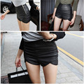 shorts women 2016 sexy Solid slender Imitation leather black short femme summer jag Small plus size Shorts new arrive B0