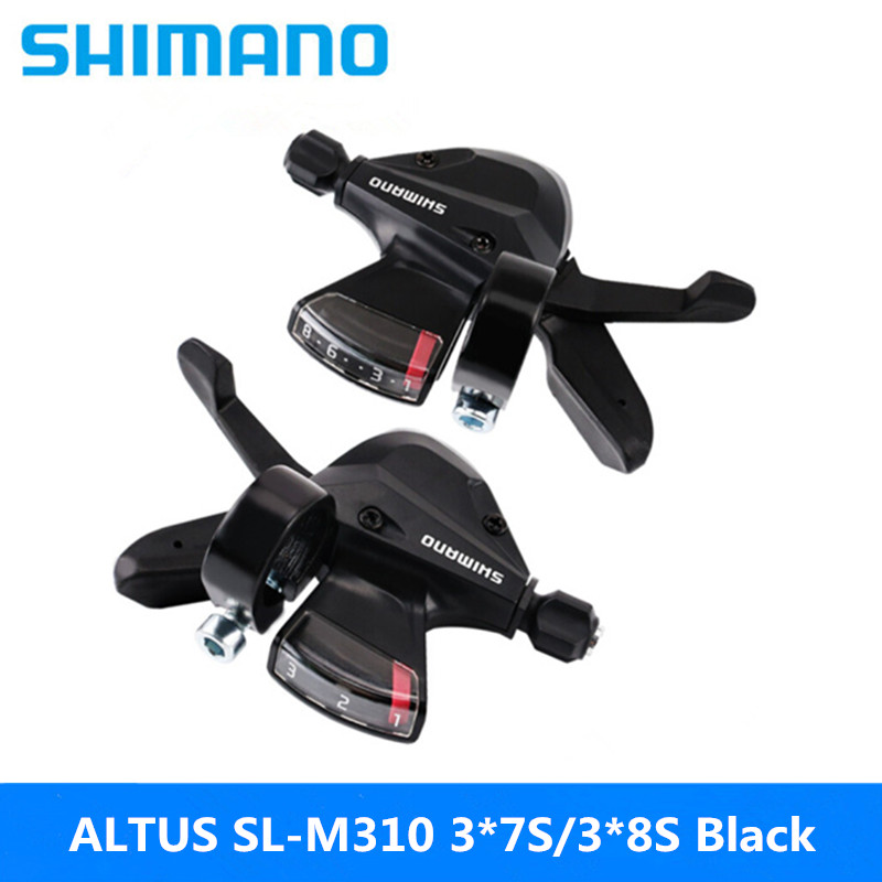 Shimano Altus Shifters Bike Bicycle Shift Levers SL-M310 3x8S Black 1 Pair