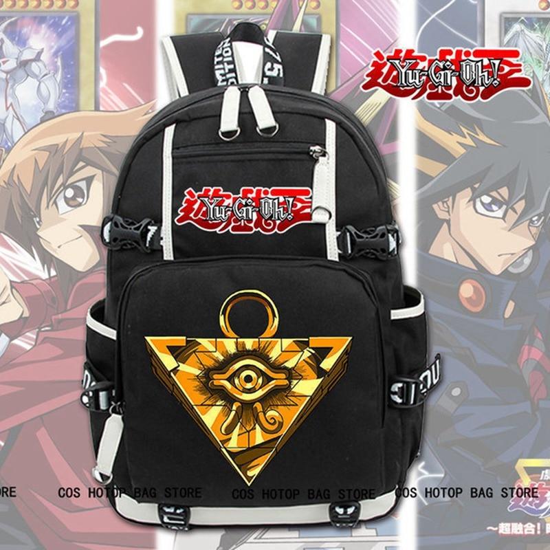 New Yu-Gi-Oh! Backpack Laptop Shoulder Travel Bags Knapsack Packsack School Student Bags Bookbag Gifts Hot