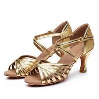 f5bba4e338 Gold Silver Latin Dance Shoes Woman Tango Dancing Shoes Girls Women  Ballroom Latin Shoes Ladies Dance
