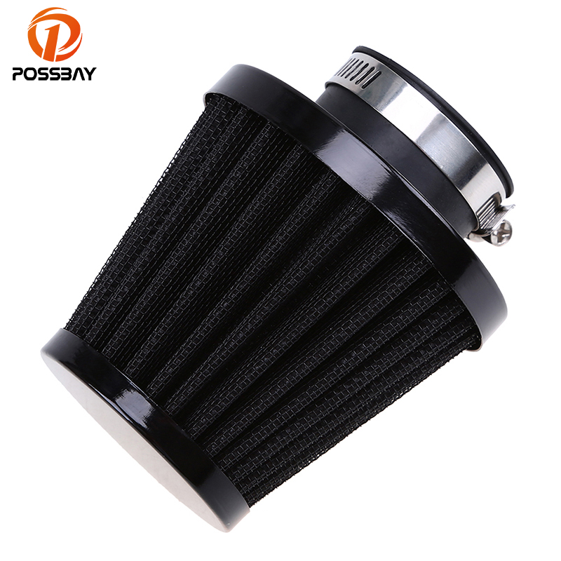 POSSBAY 35mm 39mm 48mm 54mm 60mm Universal Motorcycle Air Filter Cleaner Air Pod For Honda Yamaha Harley Cafe Scooter Filter