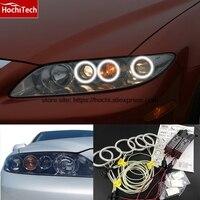 HochiTech WHITE 6000K CCFL Headlight Halo Angel Demon Eyes Kit angel eyes light For Mazda6 Mazda 6 Mazda speed6 2002-2008