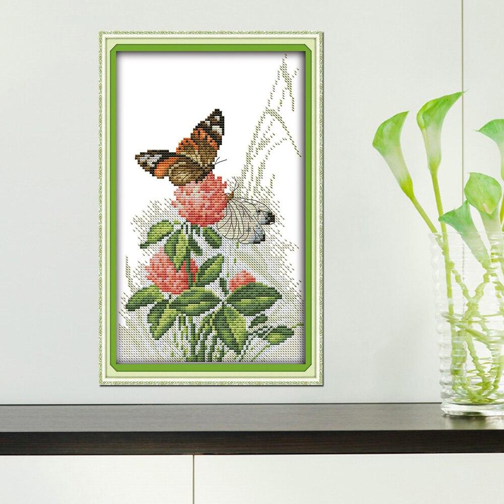 Alegría Domingo flor estilo mariposas sobre Flores Hermosa cruz ...