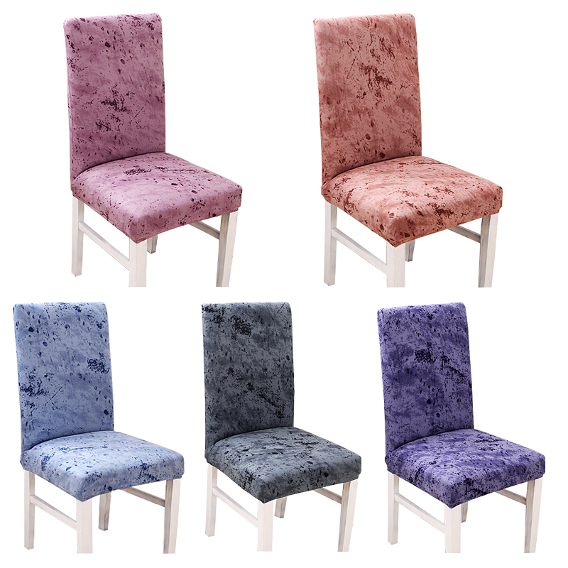 Vintage Spandex Elastic Dining Chair Cover Minimalist Kitchen Protective Slipcovers for Restaurant Banquet Decor