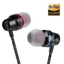 Earphone DM4 Zinc Alloy HiFi Earphone In Ear Headphones fone de ouvido BASS Metal DJ MP3 Headset auriculares audifonos(China)