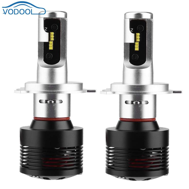 VODOOL 1 paire universel DC 12-24 V 4600LM H4 ZES LED voiture Auto phare phare phare lampe ampoules antichoc voiture style accessoires