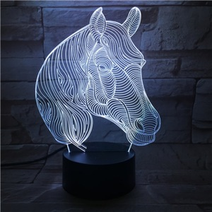 Image 4 - Creative Animal Horse Head 3D Lamp Gift LED USB Mood Night Light Multicolor Luminaria Desk Table Kid Toy Gadget Prop Home Deocr