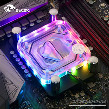 Bykski CPU Water Block use for AMD RYZEN3000 AM3/AM3+/AM4 X570 Motherboard Socket RGB support 5V 3PIN GND Header to Motherboard цена и фото