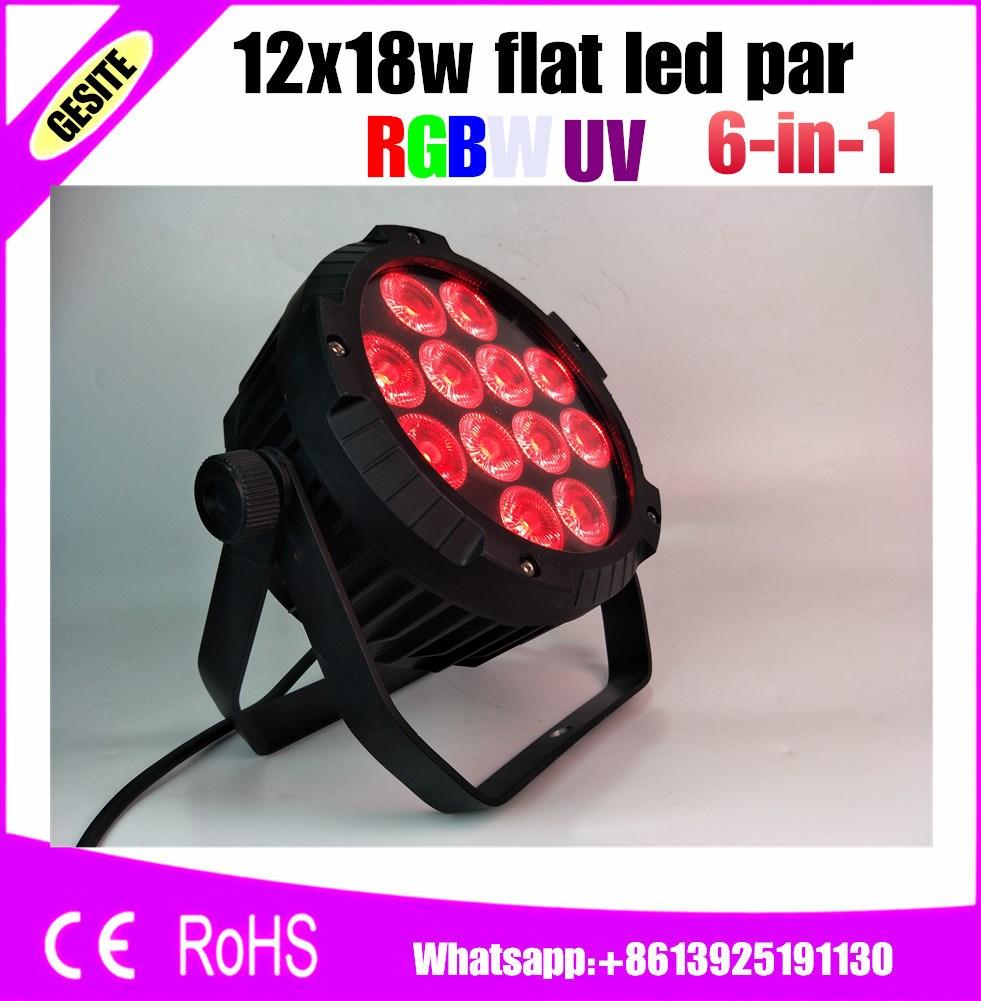 12 X 18W RGBWA UV LED DJ PAR Light IP65 DMX Waterproof PAR 64 Stage Lighting LCD Display Casting Aluminum