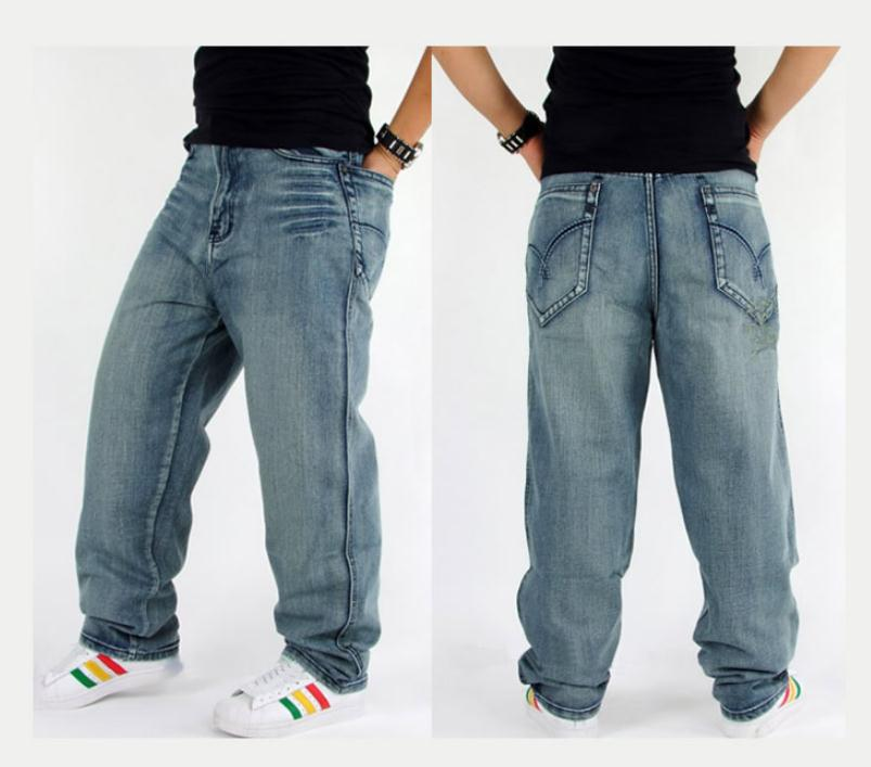 Plus Size men Jeans Loose Jeans Trousers Hip hop Printing Skateboard Men Jeans Free shipping