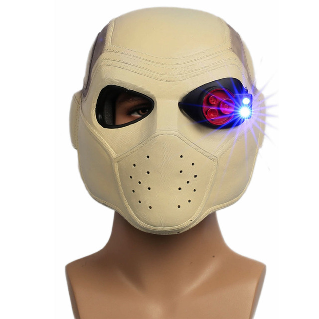 X-COSTUME Suicide Squad Deadshot Head Helmet Resin Movie Cosplay Costume Accessories