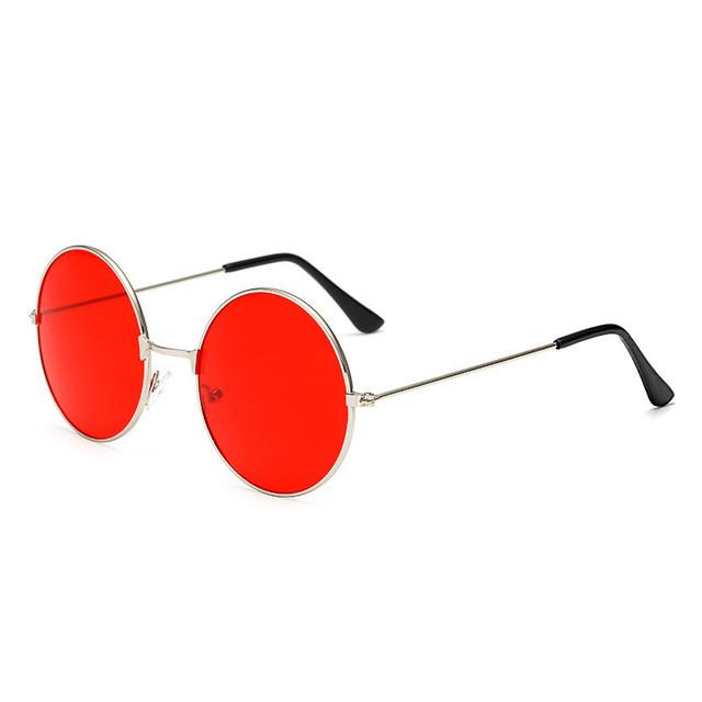 2018 New Women Men Round Sunglasses Steampunk Shades MultiColor Gradient Mirror Lens Goggles Designer Vintage Sun Glasses