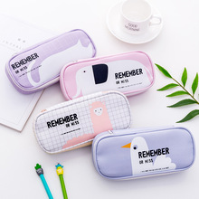 New stationery kawaii large school pencil cases bag for girls boys Pu leather office & school supplies new large capacity cute pencil case bag for school girls boys plastic pu leather pencil box stationery products