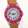 Nova Alta Qualidade Azul Menino Relógio Preto Tira de Tecido Presente da Menina Crianças crianças Aprendem Tempo Tutor Estudante relógio de Pulso U32, Navio livre