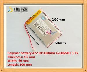 Image 1 - Новый 4560100 3,7 v 4200mah планшетный аккумулятор полимерный аккумулятор 3,7 V elf U25GT 7 дюймов/DVD полимерный аккумулятор аккумуляторная летучая мышь