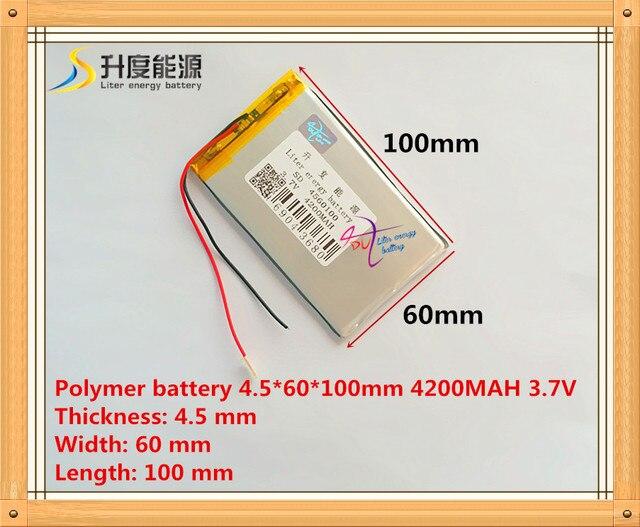Новый 4560100 3,7 v 4200mah планшетный аккумулятор полимерный аккумулятор 3,7 V elf U25GT 7 дюймов/DVD полимерный аккумулятор аккумуляторная летучая мышь