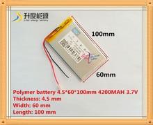 Nowy 4560100 3.7 v 4200 mah bateria tableta polimerowa bateria 3.7 V elf U25GT 7 Cal/DVD akumulator polimerowy akumulator bat